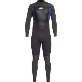 Quiksilver 3/2mm Prologue Steamer Traje Triatlón Hombre, jet black/nite blue
